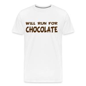 Will Run for Chocolate - Men's Premium T-Shirt