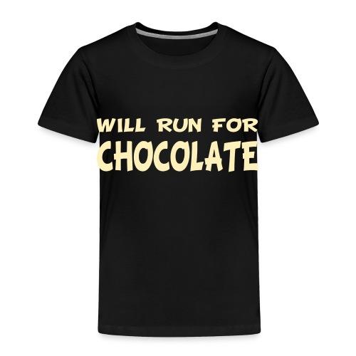 Will Run for Chocolate - Toddler Premium T-Shirt