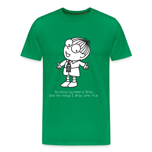 Simon in The Land of Chalk Drawings - Men's Premium T-Shirt