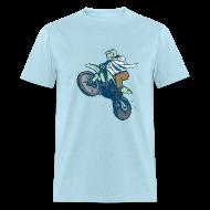 T-Shirts ~ Men's T-Shirt ~ Dr. Dirtbike on Blue!