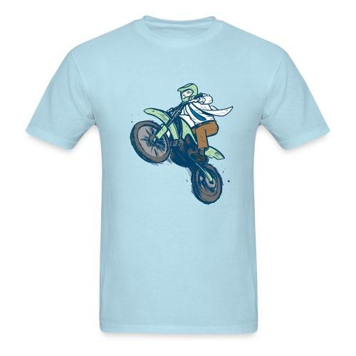 Dr. Dirtbike on Blue! - Men's T-Shirt