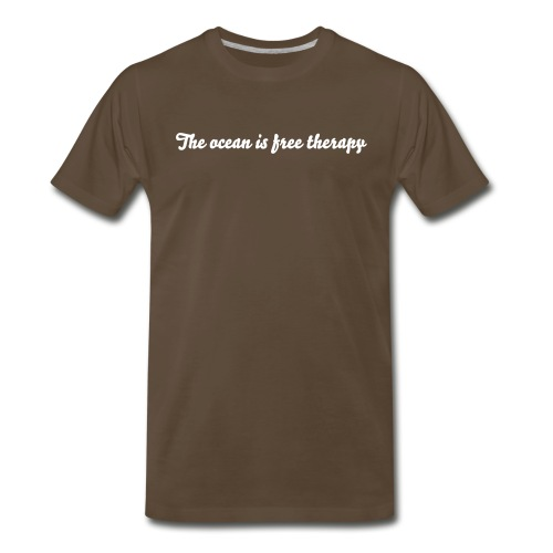 The ocean is free therapy - Men's Premium T-Shirt