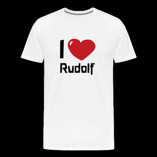 I love Rudolf - Men's Premium T-Shirt
