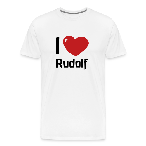 I love Rudolf - Men's Premium T-Shirt