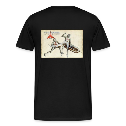 Klingon Bat' Leth Champion on the back - Men's Premium T-Shirt