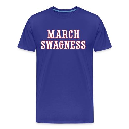 March Swagness - Blue - Men's Premium T-Shirt