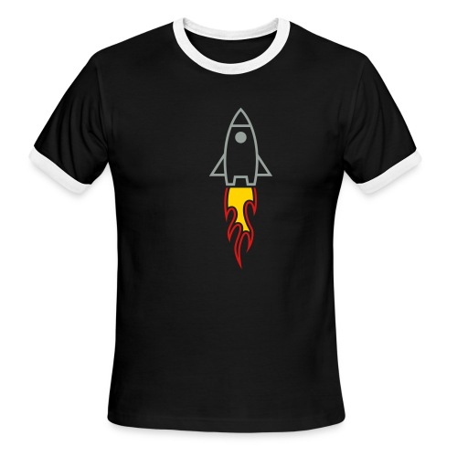 Rocket (Black Ringer) - Men's Ringer T-Shirt