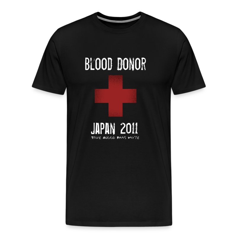 True Blood Donor - Aid to Japan (Black) - Men's Premium T-Shirt