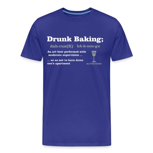 Drunk Baking Definition - 3X - Men's Premium T-Shirt