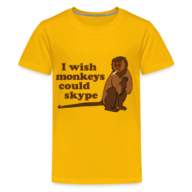 Hangover Monkey Skype Kids' Shirts