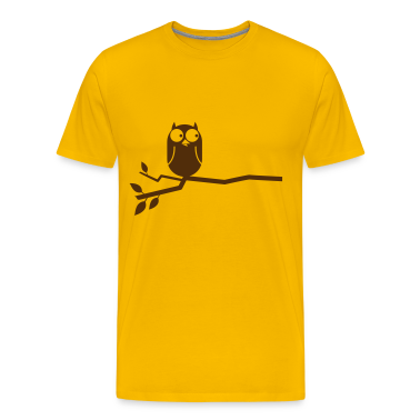 simple owl on a branch cute!  T-Shirts
