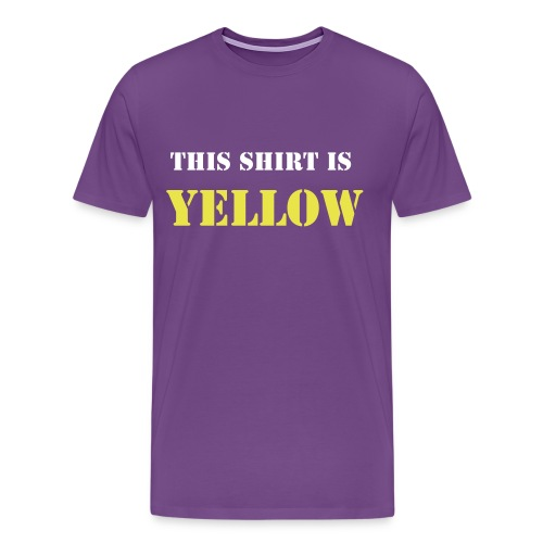 Yellow - Men's Premium T-Shirt