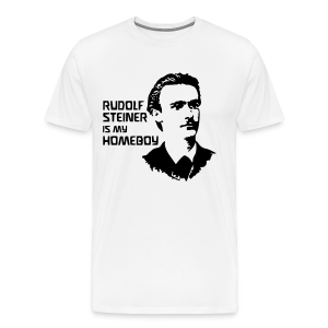 RUDOLF STEINER IS MY HOMEBOY [young] - Men's Premium T-Shirt