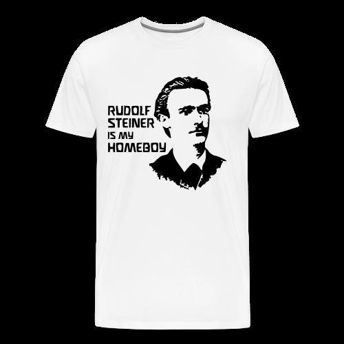 RUDOLF STEINER IS MY HOMEBOY [young] - Men's Premium T-Shirt