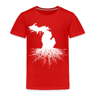 Baby & Toddler Shirts ~ Toddler Premium T-Shirt ~ Michigan Roots Toddler T-Shirt