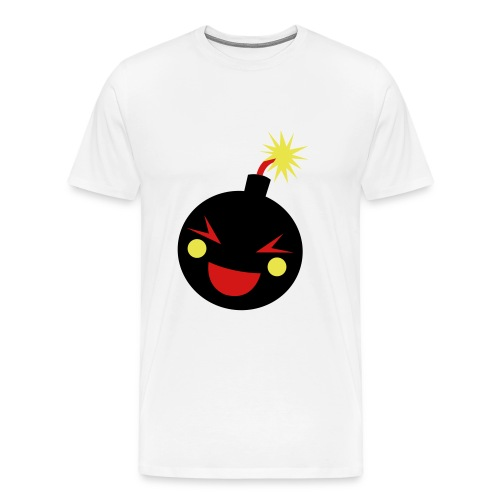 DA FRONT PORCH HUSTLA BOMB TEE (WHITE) - Men's Premium T-Shirt