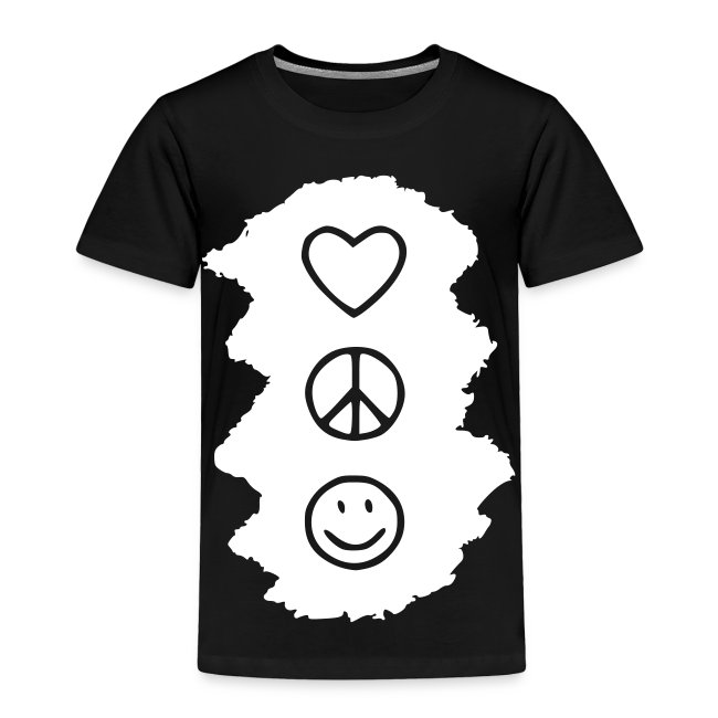Family Tees Peace Love Happiness Toddler Premium T Shirt