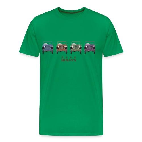 The Willys Multicolor T-shirt - Men's Premium T-Shirt