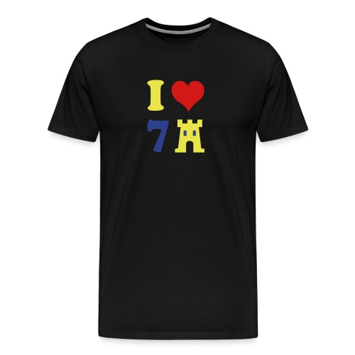 I LOVE 7CASTLES man - Men's Premium T-Shirt