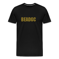 T-Shirts ~ Men's Premium T-Shirt ~ BEADGC Metallic Gold