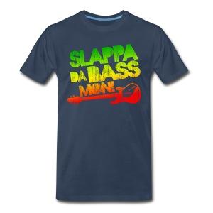 Slappa Da Bass Mon! Distressed - Men's Premium T-Shirt