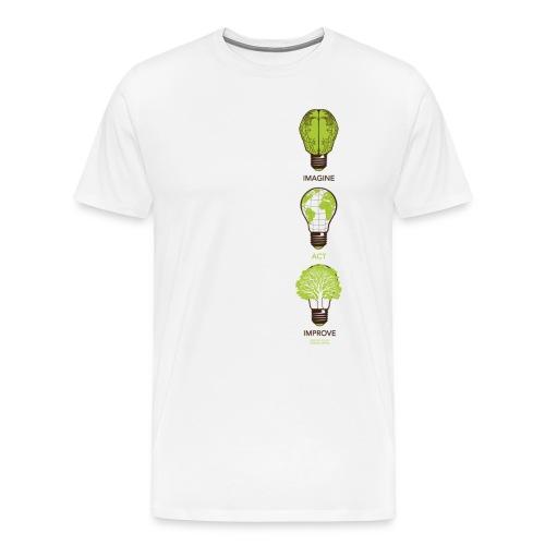 Imagine Act Improve - Men's Premium T-Shirt