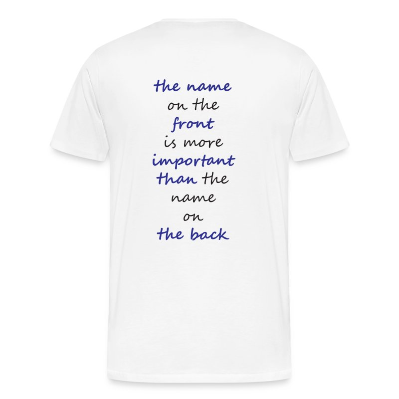 name on the front - Men's Premium T-Shirt