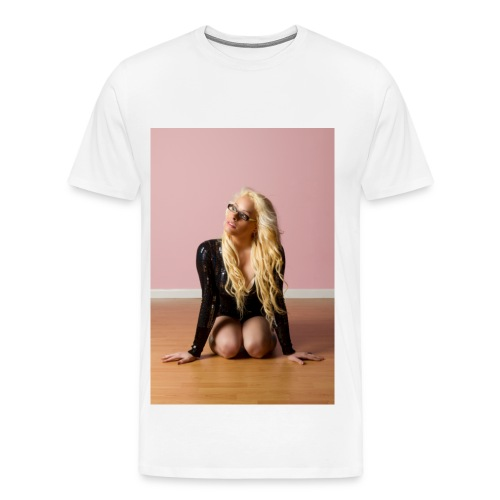 Johnnyboyxo on her knees T-Shirt - Men's Premium T-Shirt