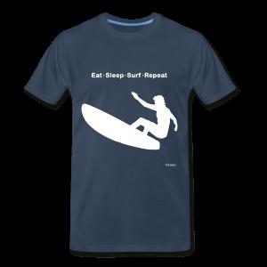 Eat Sleep Surf Repeat - Men's Premium T-Shirt