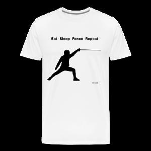 Eat Sleep Fence Repeat - Men's Premium T-Shirt