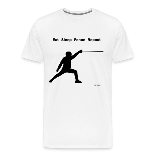 Eat Sleep Fence Repeat - Men's Premium T-Shirt