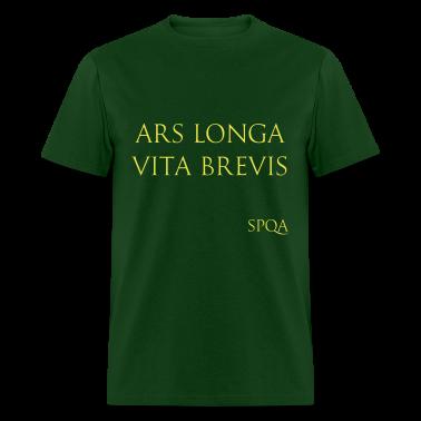 Ars longa vita brevis spqa t shirt spreadshirt for Vita brevis ars longa tattoo