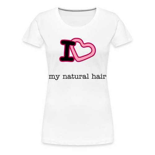 Plus Size I love my natural hair Length Check Tee - Women's Premium T-Shirt