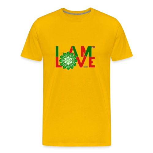 I Am Love - 2-line (Men's - heavyweight cotton tee) - Men's Premium T-Shirt