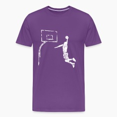 Basketball Dunk Vintage Look Retro T-Shirts