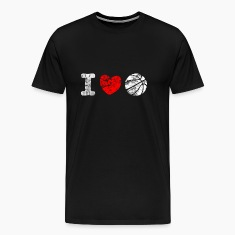 I Love Basketball Used Look Retro T-Shirts