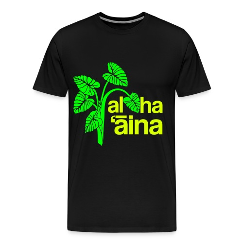 Aloha Aina - Neon - Men's Premium T-Shirt
