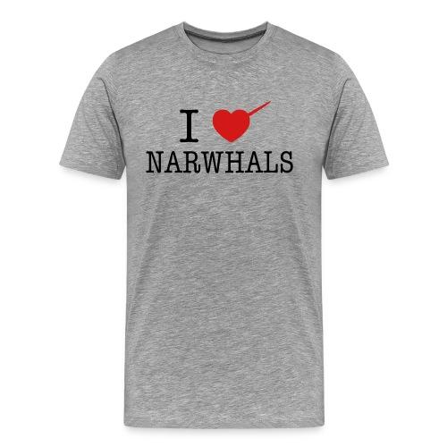 I Heart Narwhals - Men's Premium T-Shirt