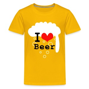 I Love Beer - Kids' Premium T-Shirt