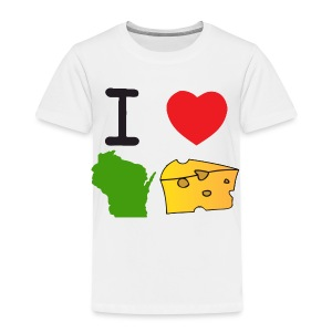 I Heart Wisconsin Cheese - Toddler Premium T-Shirt