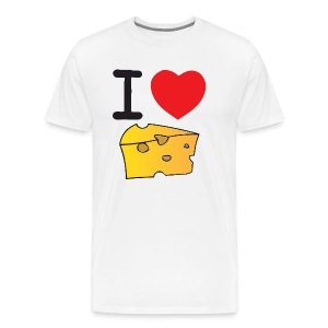 I Heart Cheese - Men's Premium T-Shirt