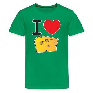 I Heart Cheese - Kids' Premium T-Shirt