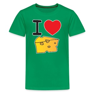I Heart Cheese - Kids' Premium T-Shirt
