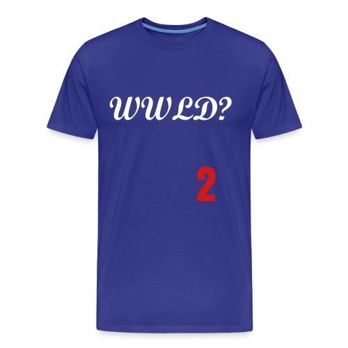 What Would Lasorda Do? (Front/Back) - Men's Premium T-Shirt