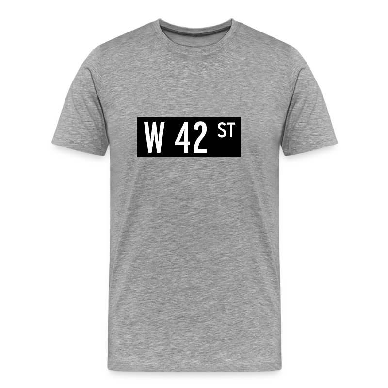 42nd street new york t shirt men 39 s premium t shirt. Black Bedroom Furniture Sets. Home Design Ideas