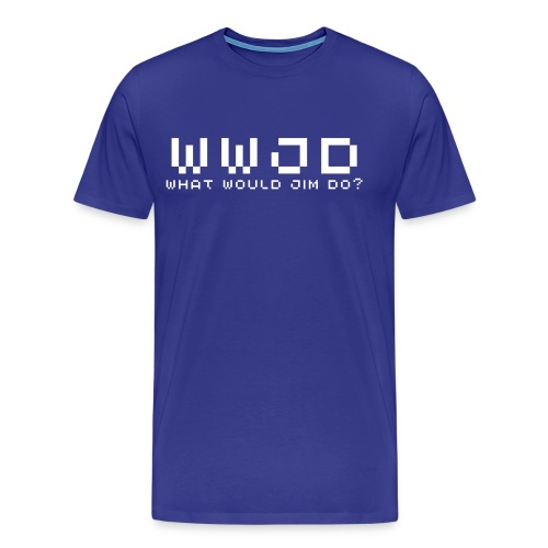 What Would Jim Do / Controlled Chaos - Men's Premium T-Shirt
