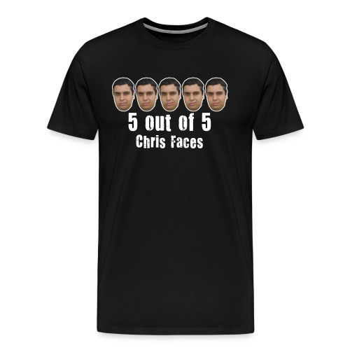 5 Chris Faces Full Color Shirt - Men's Premium T-Shirt