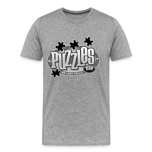 Puzzles Bar Men's Heavyweight T-Shirt - Men's Premium T-Shirt
