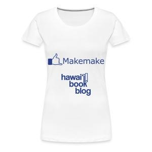 (Hawaiian) Facebook Like Womens+ Blue Glitz - Women's Premium T-Shirt