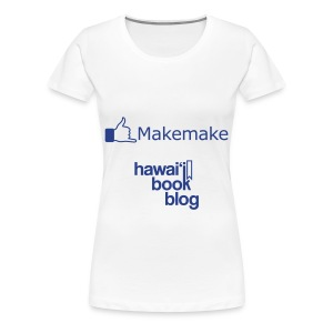 (Hawaiian) Facebook Like Womens+ Blue Glitz - Women's Premium T-Shirt